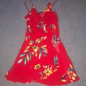 EXPRESS red floral dress